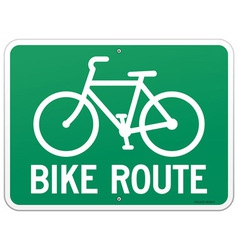Bicycle route sign vector