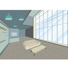 Living room scene vector