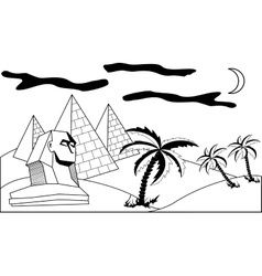 Egyptian landscape vector