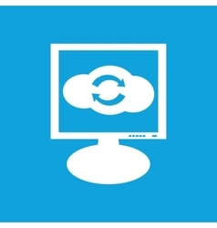 Cloud exchange monitor icon vector