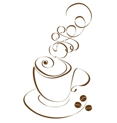 Stylized cup of coffee vector