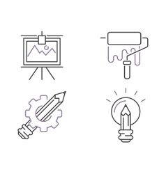 Creative idea sign icons idea icon concept line vector