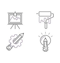 Creative idea sign icons idea icon concept line vector image