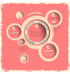 Pink web design bubbles in vintage style vector