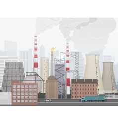 Industrial factory landscape Plant or factory the vector image