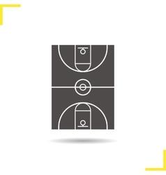 Basketball field icon vector