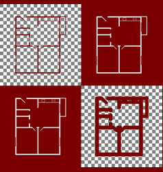 Apartment house floor plans bordo and vector