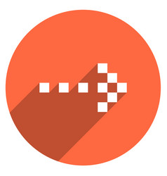 arrow sign digital display circle icon vector image vector image