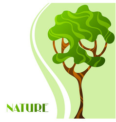 background with abstract stylized tree natural vector image