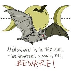 Bat poster vector image