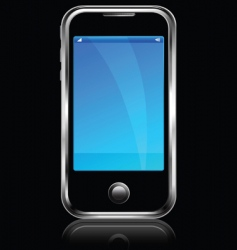 cell phone black blackground vector image