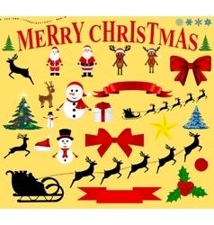 Christmas icons for celebratory design vector image