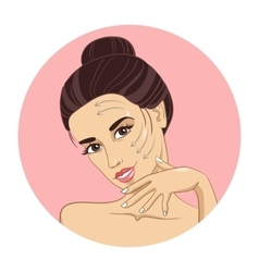 Clean skin of the face vector image