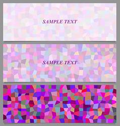Colored tiled rectangle pattern banner design set vector