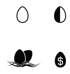 Egg icon set vector