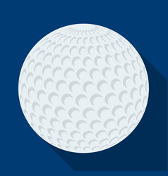 golf ballgolf club single icon in flat style vector image vector image