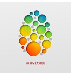 Happy Easter decorated paper egg vector image