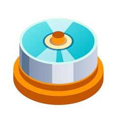 icon cd vector image