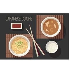 Japanese cuisine set vector image vector image