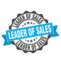 Leader of sales stamp sign seal vector