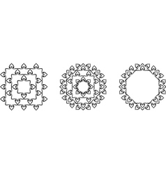 Mandala frame vector