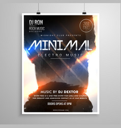 Minimal grunge style music party flyer template vector
