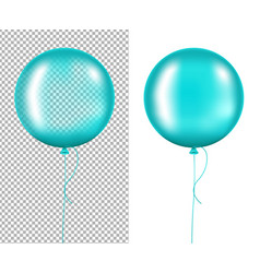mint balloons vector image vector image