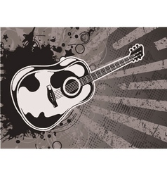 Music wallpaper with guitar vector
