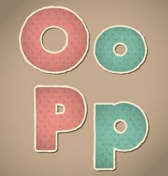 Paper alphabet vector