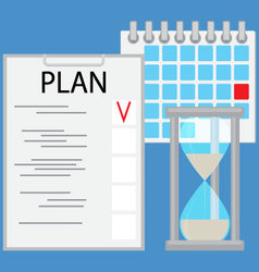 Planning time business concept flat vector image vector image