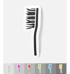 Realistic design element toothbrush vector