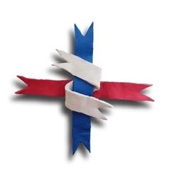 Ribbon interwoven vector image vector image