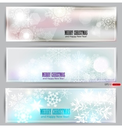 Set of elegant winter banners vector