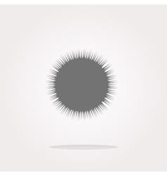 Sun on web icon button icon vector image