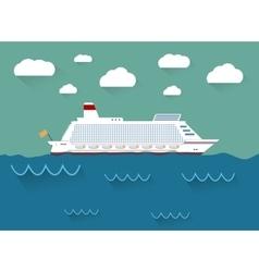 The of cruise ship vector
