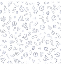 Travel Pattern Hand Draw vector image vector image