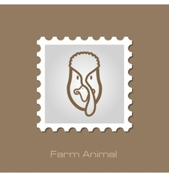 Turkey stamp Animal head vector image vector image