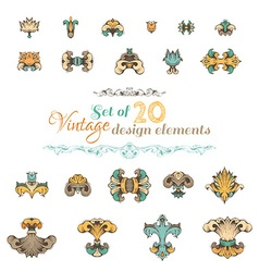 Vintage design elements and page decorations vector