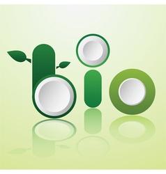 word bio infographics design vector image vector image