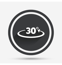 Angle 30 degrees sign icon geometry math symbol vector