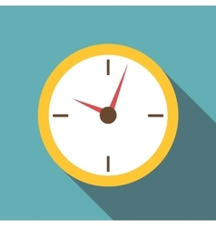 Wall clock icon flat style vector image