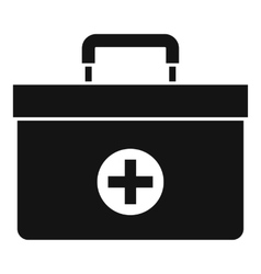 Medicine chest icon simple style vector