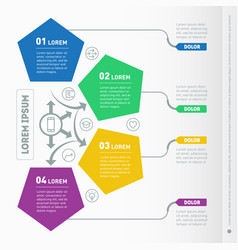 Business presentation concept with 4 options web vector