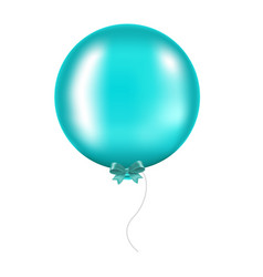 Mint bow with balloon vector