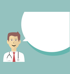 doctor with speech bubble vector image