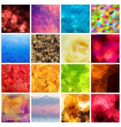 Set of multicolored geometric polygonal vector
