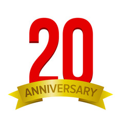 20 years anniversary icon vector
