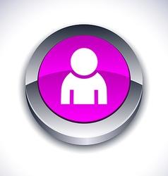 Person 3d button vector image
