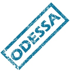Odessa rubber stamp vector