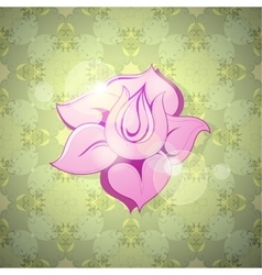 Flower still life vector